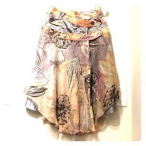 Hugo Boss Orange Label floral tiered skirt